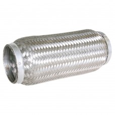 "Flexibel exhaust part, braided, welding part, 3"" diameter, 200mm long"