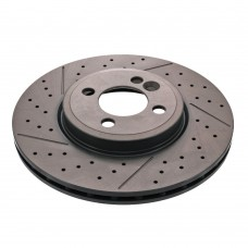 Brake disc, front, OE-Quality, Mini R55, R56, R58, R59, Cooper S, JCW, part nr. 34116777826, 34116777825