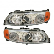 Headlight set, LED daytime light, dimming light projector, Volvo S60, V70, XC70