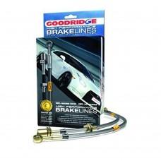 Goodridge brake hose set, steel braided, Volvo S40, m.y. 2000-2004