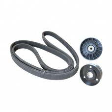 Serpentine belt set, Volvo 960, S90, V90, with airco, m.y. 1995-1996, part.nr. 272136, 9135565, 8642562