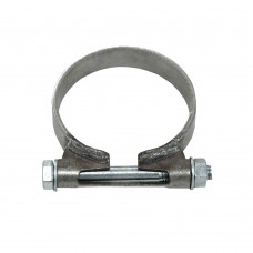 Exhaust clamp, stainless steel, 62 mm inner diameter